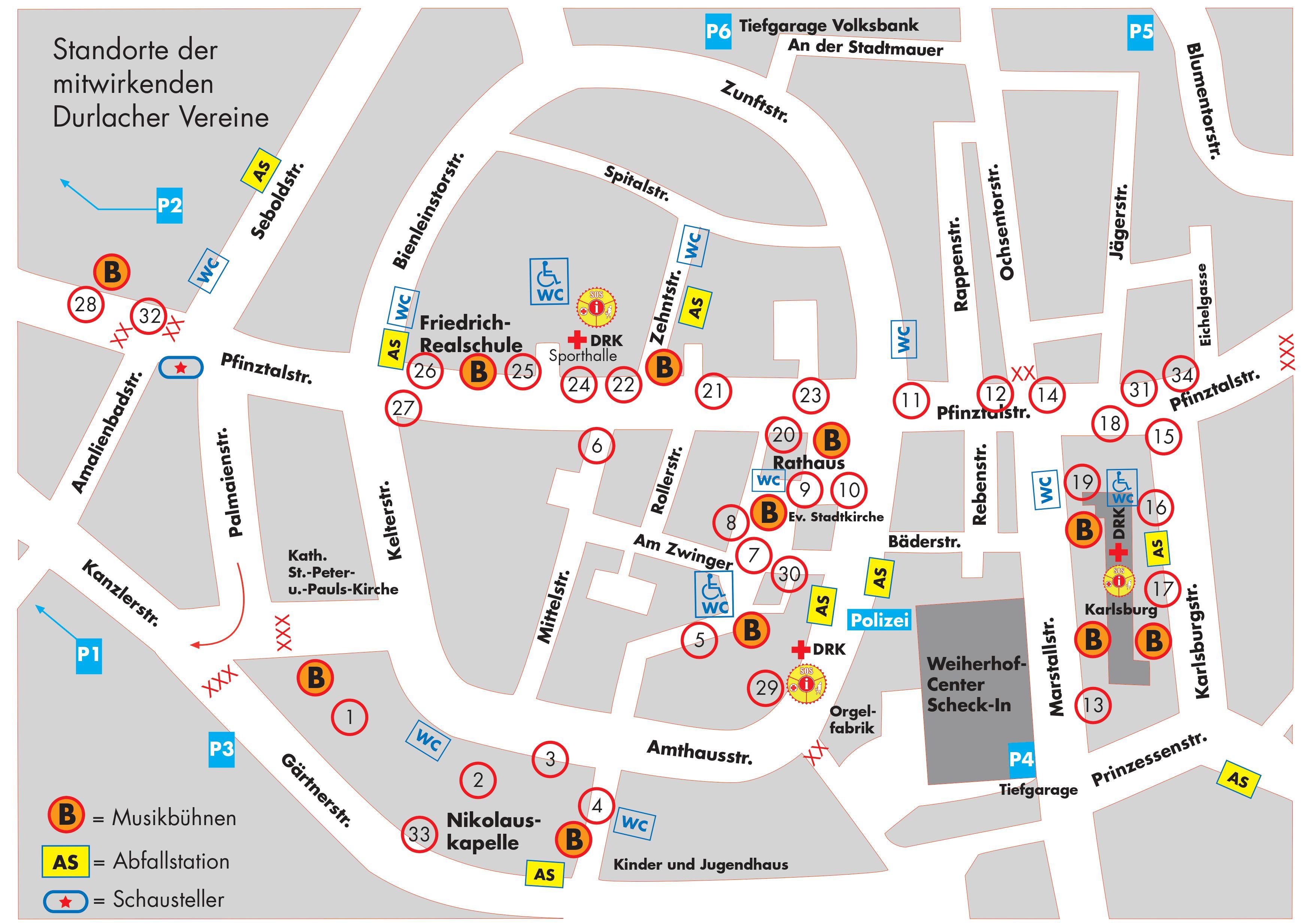 Stadtfestplan